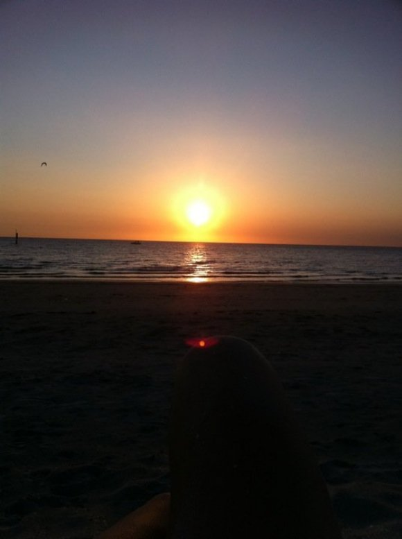 Sunset at Mordialloc beach