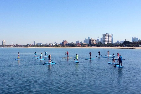 Stand Up Paddle Board Group Lesson in St Kilda - St Kilda