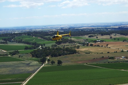 20 Minute Barossa Valley Western Ridge Helicopter Flight