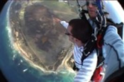 Sky Diving Tandem Jump Over The Goldfield's -