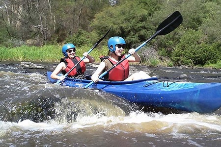 White Water Kayaking on the Yarra River -