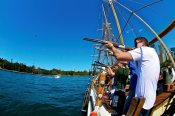 Laser-Clay Shooting on a Tallship with Mast Climb -