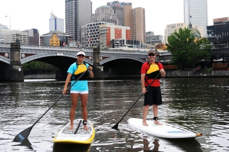 Stand Up Paddle Boarding Yarra River Tour - St Kilda