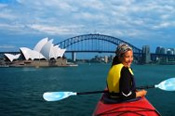 Kayaking on Sydney Harbour -