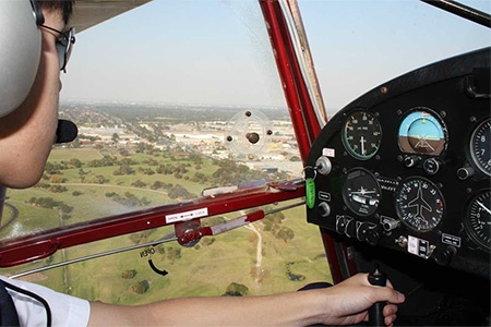 Training Flight in a Light Aircraft -