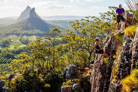 Glasshouse Mountains Abseiling Adventure -