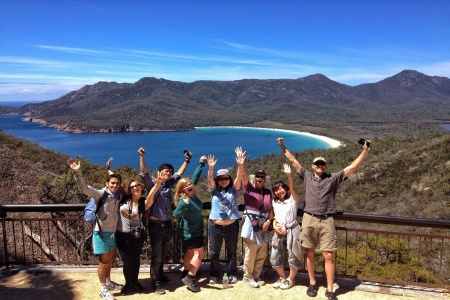 Wineglass Bay and Freycinet National Park -
