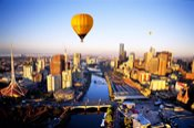 Sunrise Hot Air Balloon Flight over Melbourne - Melbourne CBD
