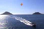 Group Parasailing Experience over Port Stephens -