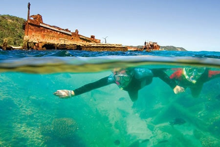 Moreton Island Wrecks Adventure Tour -