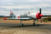 YAK-52 Fighter Trainer Mission in a Russian Red -