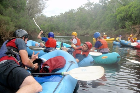 Abseiling and Rafting on the Collie River -