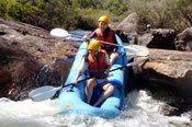 Abseiling and White Water Rafting on the Collie River -