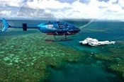 Deluxe Helicopter Flights and Cruise to Green Island and Outer Barrier Reef -