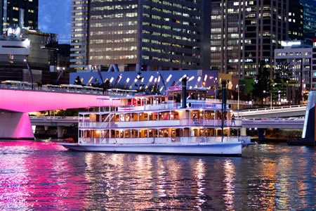 Brisbane River City Lights Dinner Cruise on a Paddlewheeler