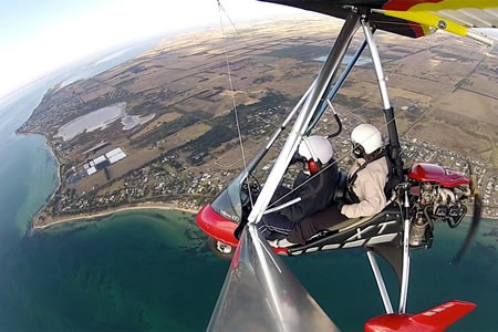 20 Minute Trial Microlight Flight over Point Lonsdale -