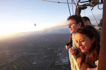 Hot Air Ballooning in Tasmania
