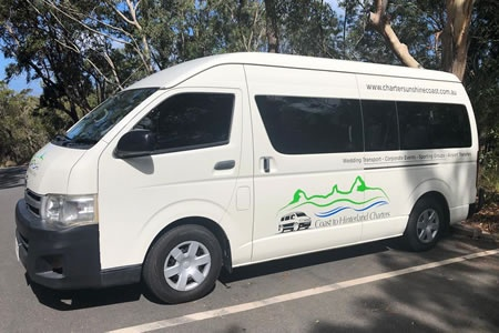 Sunshine Coast Private Minibus Charter for upto 13