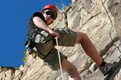 Sunset Abseiling at Kangaroo Point in Brisbane -
