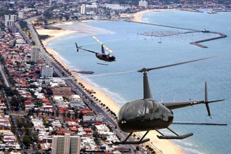 Melbourne City and St Kilda Coastal 20 Minute Scenic Helicopter Flight -