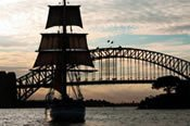 Tallship Twilight Dinner Cruise on Sydney Harbour -
