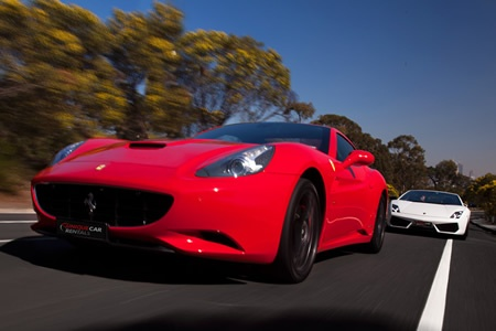 Hire a Ferrari California