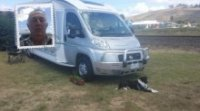 Jim, Edgar and the motorhome