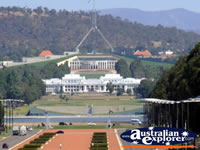 Canberra view to Parliament House . . . CLICK TO ENLARGE