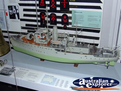 Australian War Memorial Ship Display . . . CLICK TO VIEW ALL AUSTRALIAN WAR MEMORIAL - MUSEUM POSTCARDS