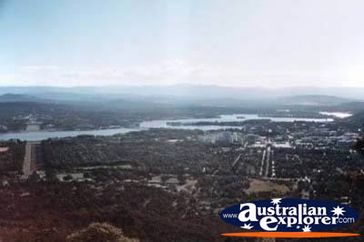 View Over Canberra . . . CLICK TO VIEW ALL CANBERRA POSTCARDS