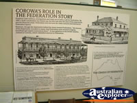 Corowa Museum Federation Display . . . CLICK TO ENLARGE