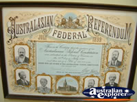 Corowa Museum Referendum Display . . . CLICK TO ENLARGE
