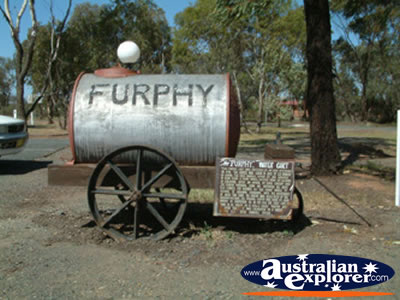West Wyalong Waratah Village Water Cart . . . CLICK TO VIEW ALL WEST WYALONG POSTCARDS