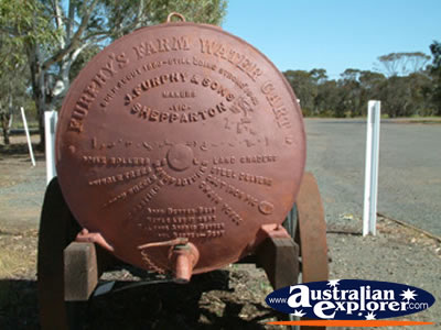 West Wyalong Waratah Village Water Cart from Behind . . . CLICK TO VIEW ALL WEST WYALONG POSTCARDS