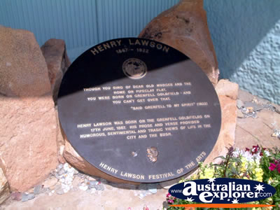 Grenfell, Henry Lawson Plaque . . . VIEW ALL GRENFELL PHOTOGRAPHS