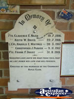 Canowindra Historical Museum Memorial . . . CLICK TO ENLARGE