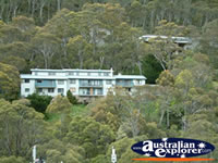 Thredbo View of House in Hill . . . CLICK TO ENLARGE