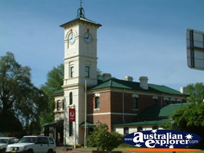 Cootamundra Post Office Clock . . . CLICK TO VIEW ALL COOTAMUNDRA POSTCARDS