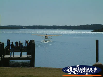 Sea Plane at Forster . . . CLICK TO VIEW ALL FORSTER POSTCARDS
