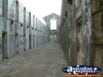 Cell Block . . . VIEW ALL TRIAL BAY (GAOL) PHOTOGRAPHS