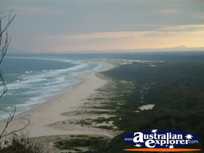 View of Beach from Smoky Cape Lighthouse . . . CLICK TO VIEW ALL SMOKY CAPE POSTCARDS