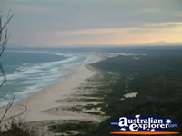 View of Beach from Smoky Cape Lighthouse . . . CLICK TO ENLARGE