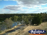 Narrandera Lake Talbot Caravan Park View . . . CLICK TO ENLARGE