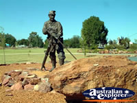 Sculpture of a Miner at Cobar Miners Memorial . . . CLICK TO ENLARGE