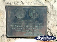 Plaque at the at the rest stop on the road to Wilcannia . . . CLICK TO ENLARGE