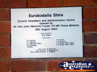 Moruya Council Plaque . . . CLICK TO ENLARGE