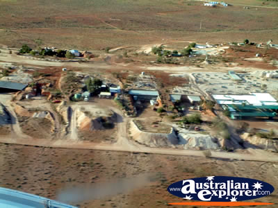 White Cliffs Town View from Above Ground . . . CLICK TO VIEW ALL WHITE CLIFFS FROM THE AIR POSTCARDS