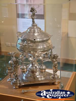 The Bradman Museum at Bowral Glass Cased Trophy . . . CLICK TO ENLARGE
