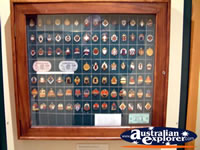 The Bradman Museum at Bowral Medallion Display . . . CLICK TO ENLARGE