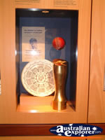The Bradman Museum at Bowral Display Cabinet . . . CLICK TO ENLARGE